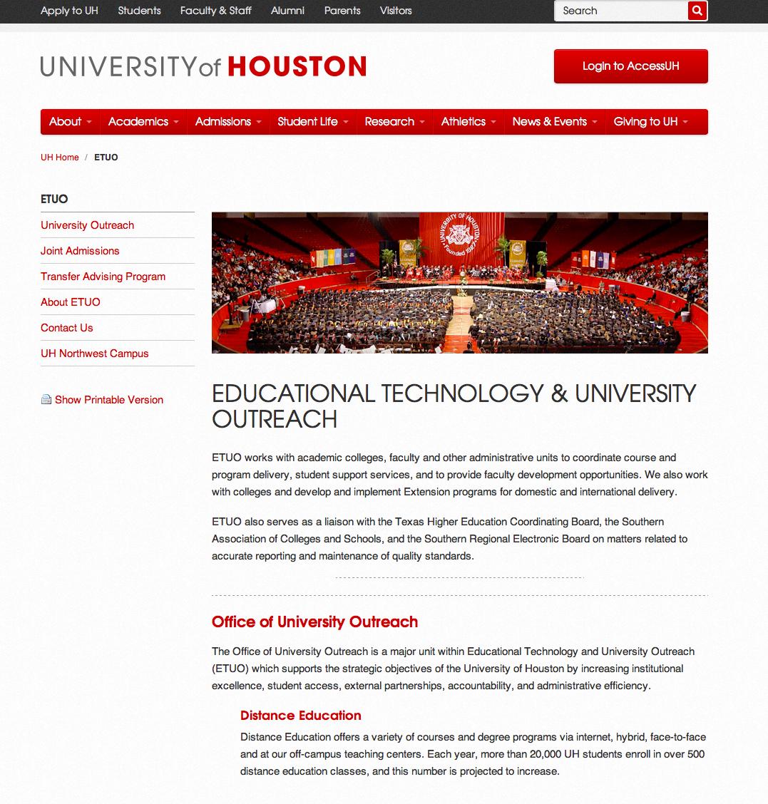 University of Houston ETUO