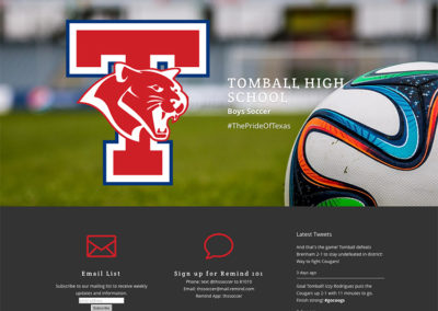 Tomball High School soccer
